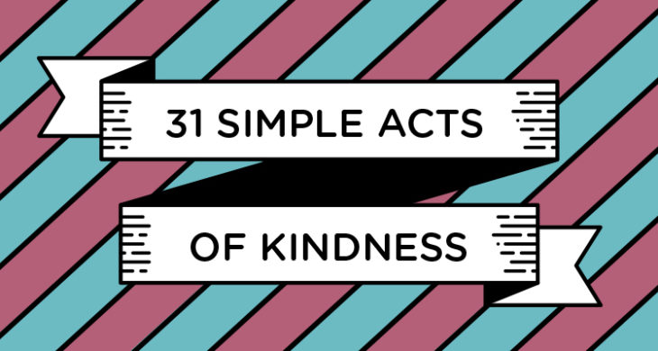 31 simple acts of kindness banner
