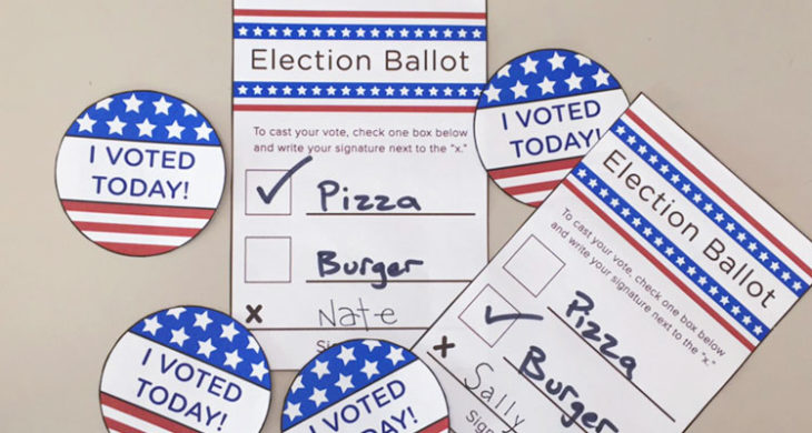 image about Printable Ballot known as Voting Printables for Young children - Mastering Liftoff