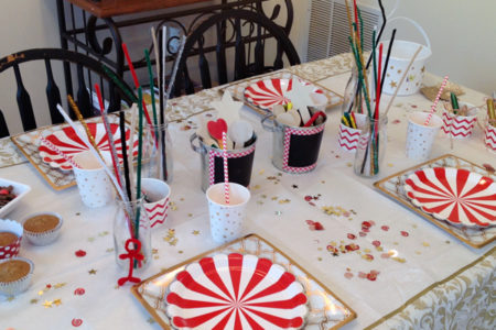 Christmas Activities Dinner Table