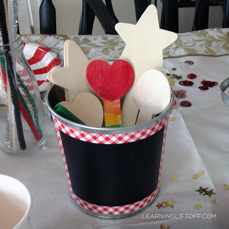 Christmas table wooden craft