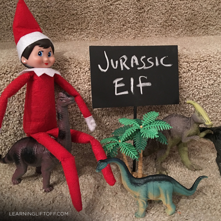 Elf on the Shelf jurassic