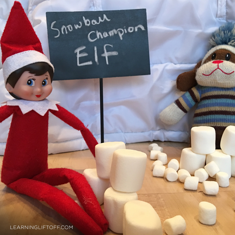 Elf on the Shelf snowball