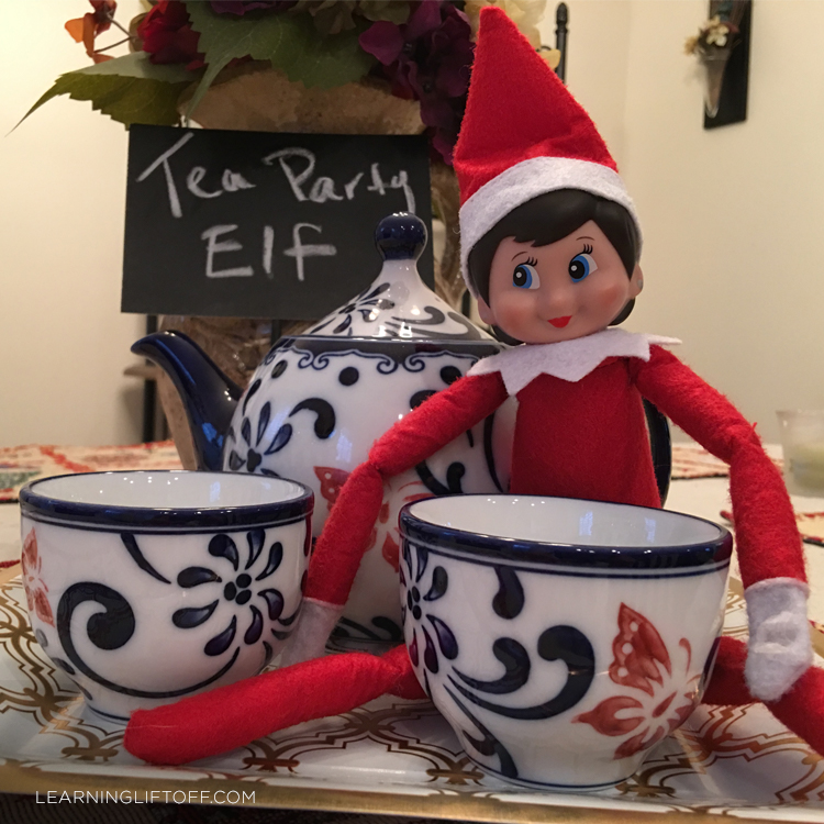 Elf on the Shelf tea party