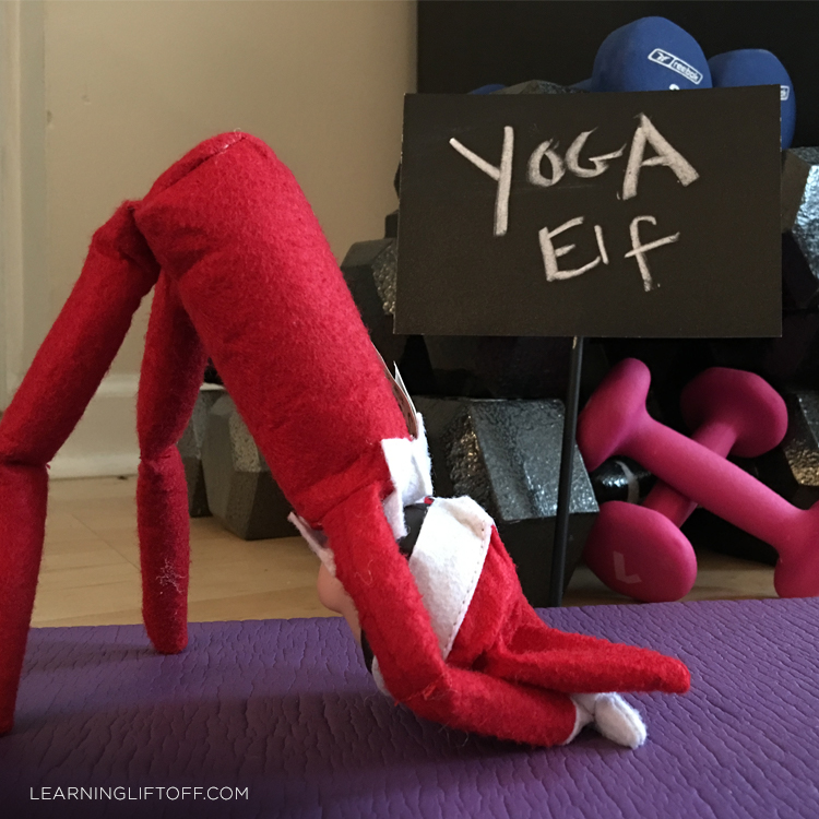 Elf on the Shelf yoga