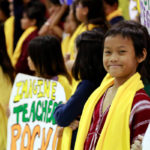 smiling student in crowd at a National School Choice Week event