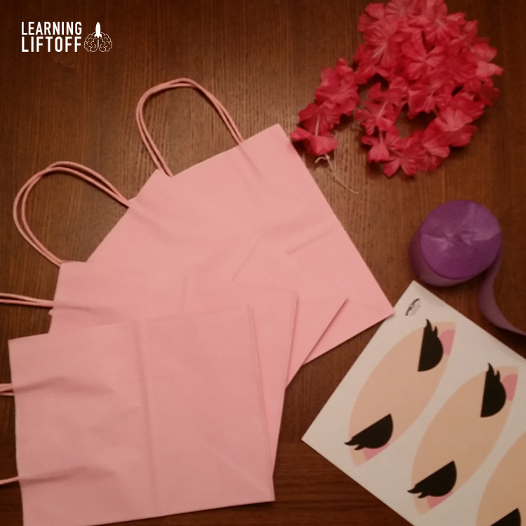 DIY Ninja Party Bag supplies