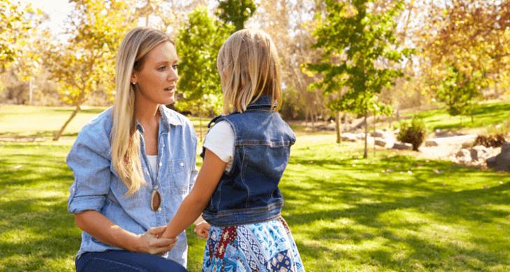 mother/ daughter talking