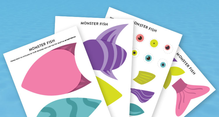 monster fish printable