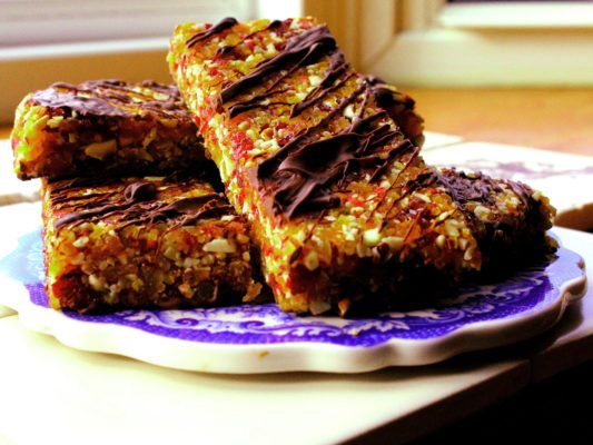 breakfast bars on a plate