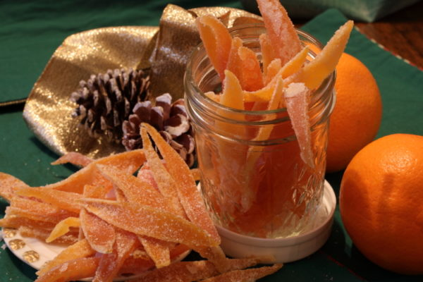 jar of candied orange peel