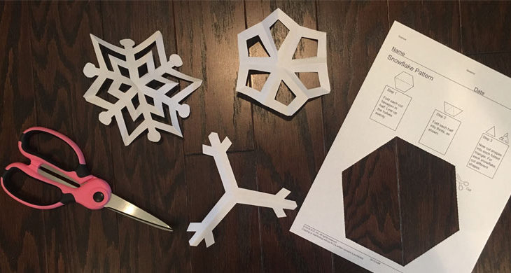 picture regarding Snowflakes Template Printable identify Deliver Paper Snowflakes with This Snowflake Template