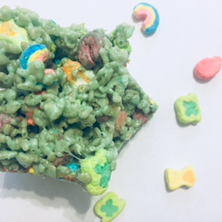 lucky charms rice krispie treats