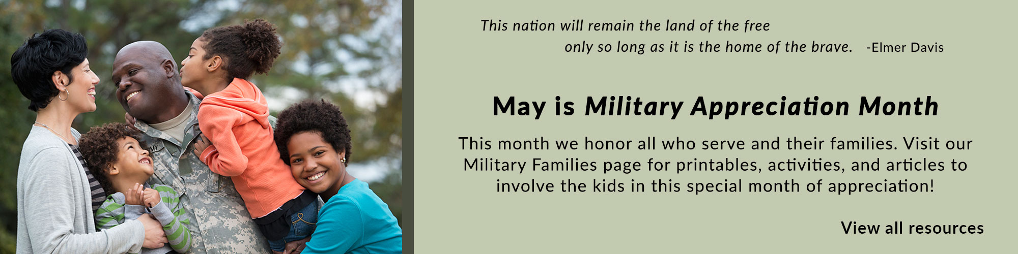 Military Appreciation Month - Military Family