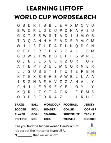 world cup word search image