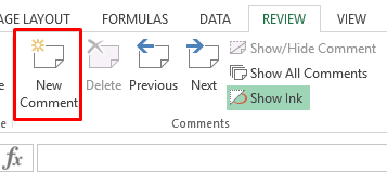 excel screenshot new comment