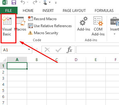 excel screenshot visual basics