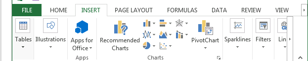chart insert excel screenshot