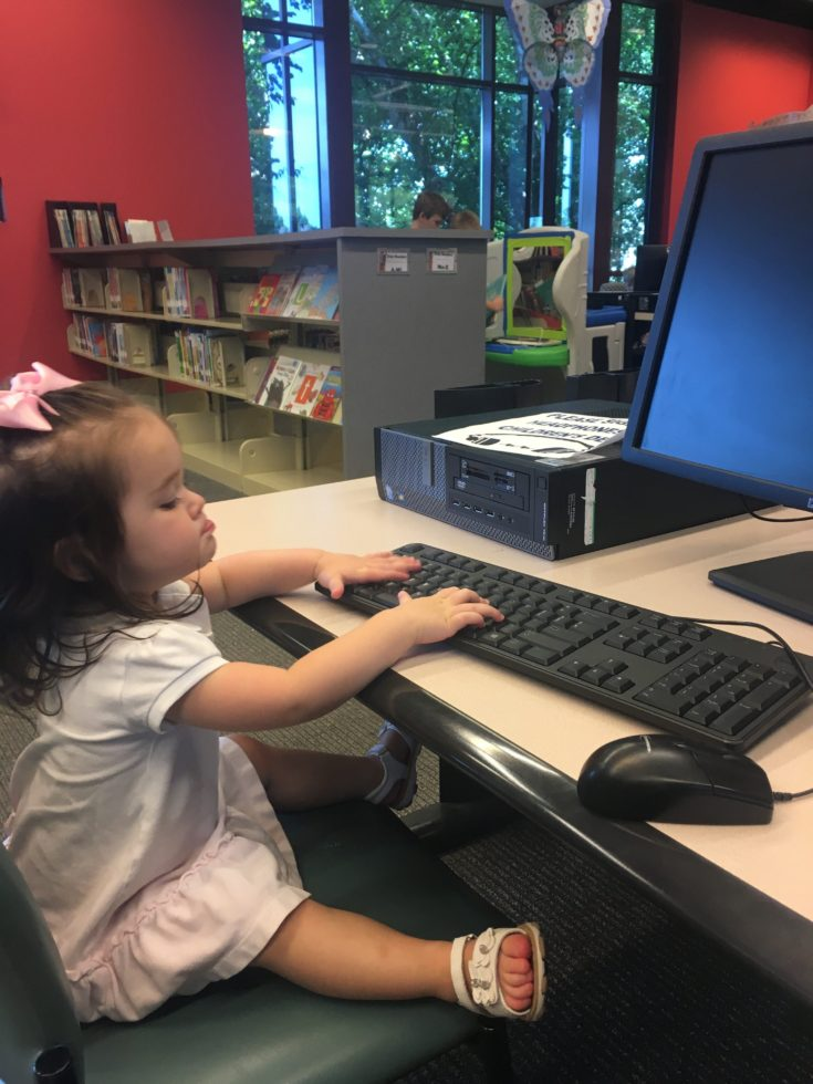 child at a computer