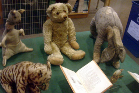 Christopher Robin's original Winnie the Pooh stuffed animals