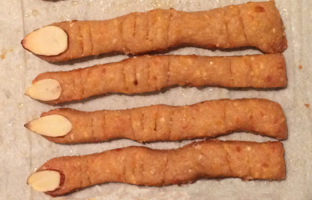 cheese straws that look like severed fingers