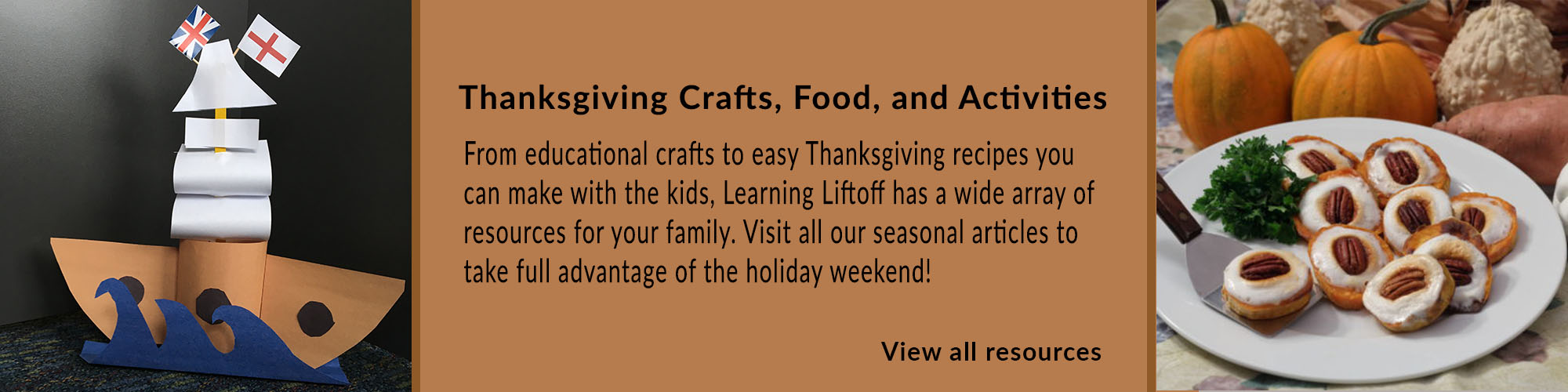 craft and food Thanksgiving Resources Promotion