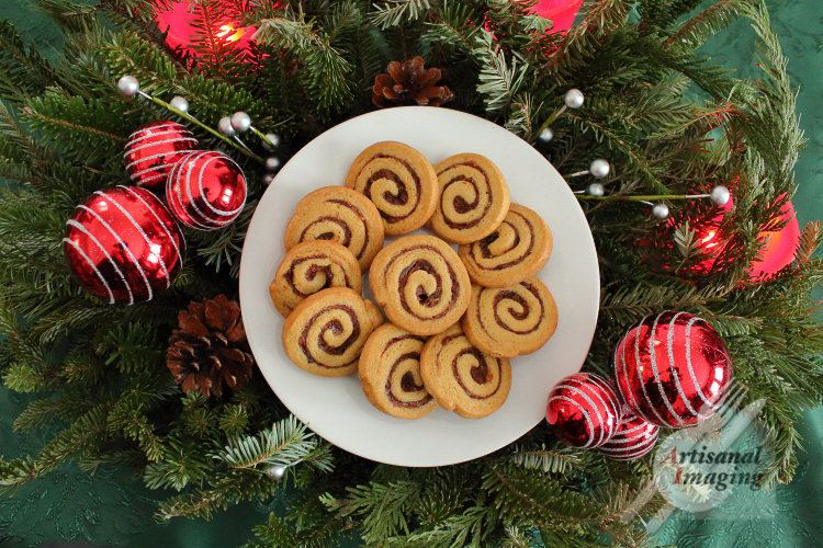 Plate of pinwheel cookies