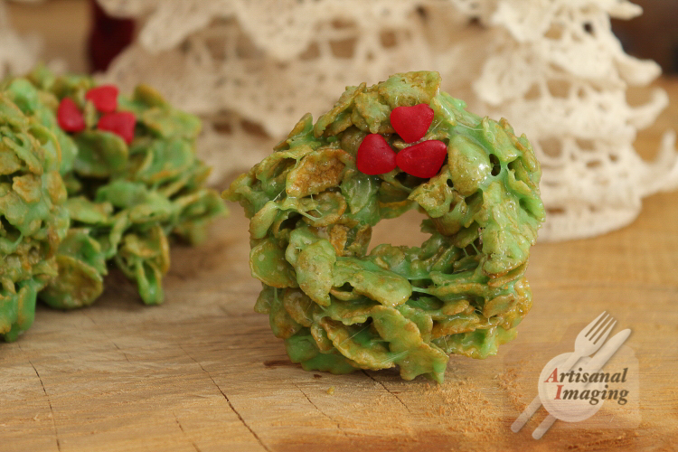 No-bake wreath cookie