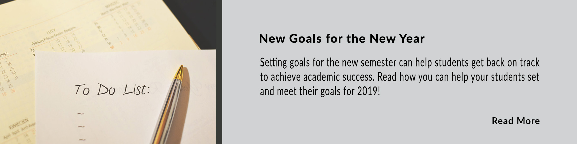 To-Do List setting goals for new year
