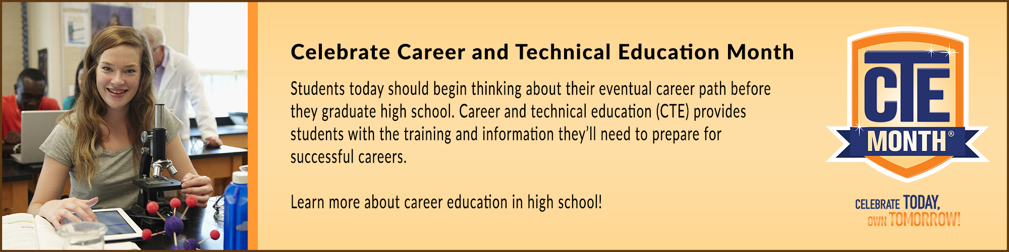 Celebrate Career and Technical Education Month