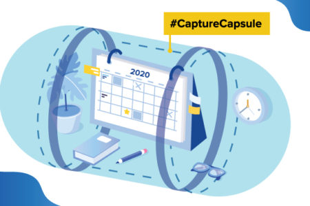 covid time capsule illustration